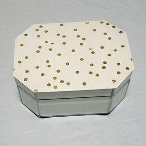 Beautiful CynthiaRowley gold dot glass jewelry box